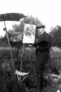 Alfred Holler mit Staffelei